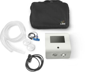 Alpha ventilator with accessories and carrying bag