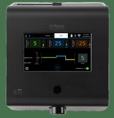 biWaze Airway Clearance System device